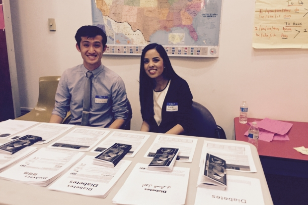 This photo shows students from Drexel College of Medicine providing health information at the NSC health fair.